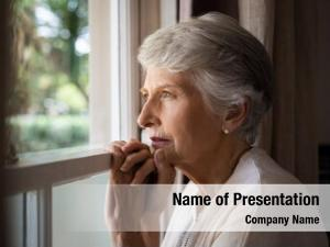 Woman depressed senior home feeling