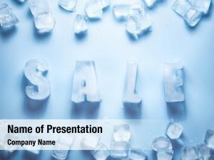 Sale ice letters ice cubes