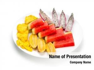 Exotic glass fresh fruit exotic