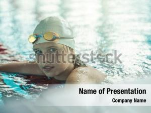 Butterfly child portrait swimming