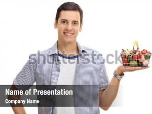 Man smiling young holding small