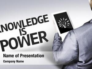 Text business man knowledge power