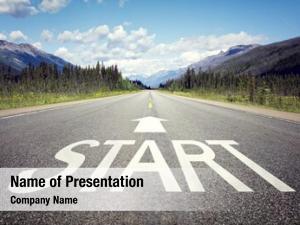 Highway start line concept business