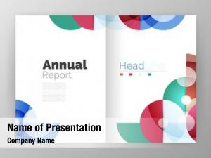 Business circle abstract annual report