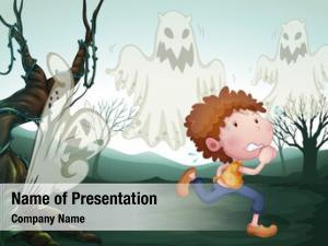 Three illustration boy ghost