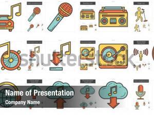 Music line powerpoint theme