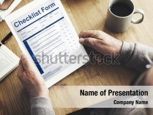Touchscreen application checklist form