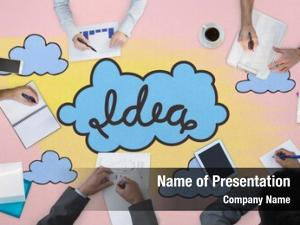 Against business meeting idea clouds