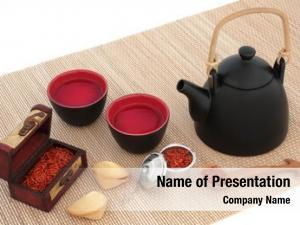 Oriental safflower tea teapot, cups,fortune