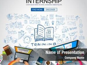 Business internship concept doodle design