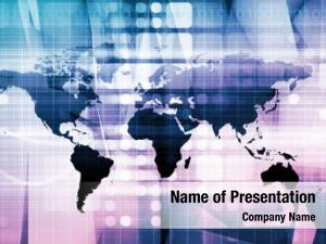 Network global business technology theme