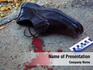 Crime evidence blood scene