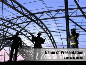 Builders human figures sky