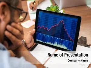 Market closeup stock broker working