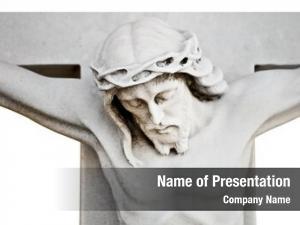 Crucifixion marble statue jesus white