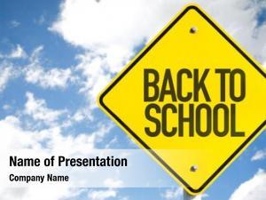 Sign back school sky