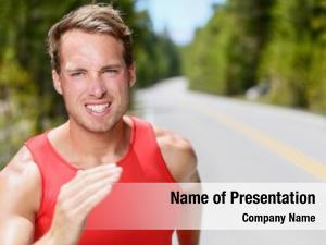 Running man runner road training,