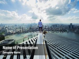 Man stands on roof