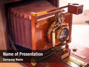 Vintage old retro close camera