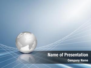 Silver business design grey globe,