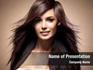 Long fashion model straight hair