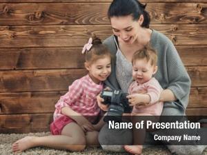 Photographer young woman children girls