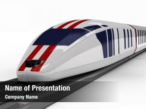 White high speed train