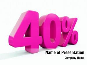 Percent pink 40% discount sign,