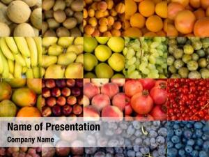 Different collage fruits colors