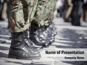 Boots army parade close up