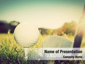 Ball playing golf, tee golf