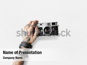 Fashion photography tattoo camera