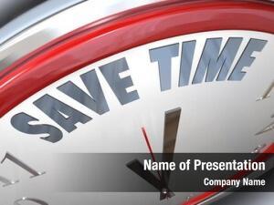 Time words save clock symbolize