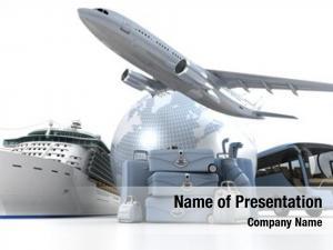 Airplane, world globe, cruise ship