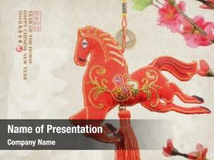 Knot chinese horse white word