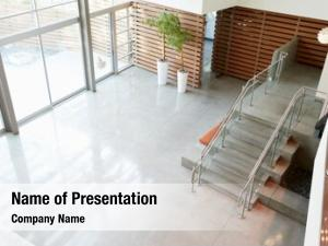 Modern lobby stairs office building