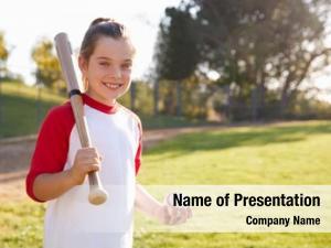 Holding young girl baseball baseball