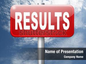Results and succeed powerpoint theme