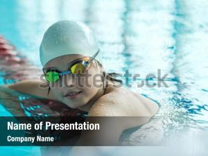 Happiness child portrait swimming