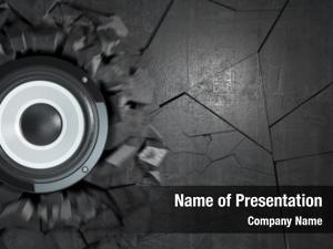 Speakers powerful audio broke concrete
