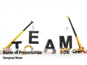 Concept: team building black alphabetic