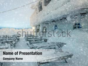Dangerous winter powerpoint template