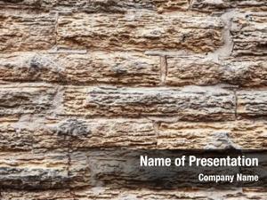 Limestone old crumbling slab wall