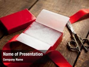 Gift opening preparing red box