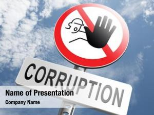 Bribery corruption paying political gouvernment