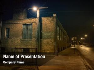 City dark urban street alleyway
