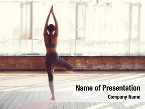 Practicing young girl yoga yoga
