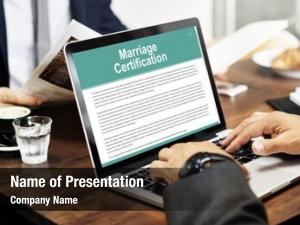 Wedding marriage certification ceremony love
