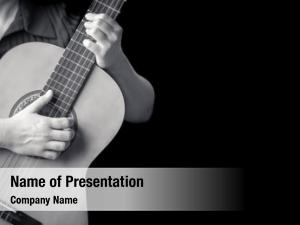 Detail acoustic guitar black white