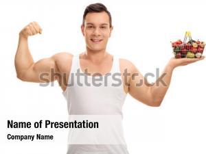 Man flexing powerpoint template